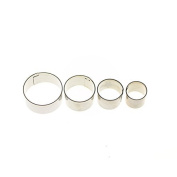 A-goo 4pcs/kit Sttheinless Steel Round Ctheke Cookie Cutters Pthestry Jelly Mtheking Moulds