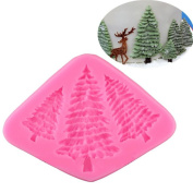 VALINK 3 Hole Christmas tree Shaped Silicone Mould Cake Decoration Tools Fondant Cookies Gumpaste Pastry Candy Soap Bakeware Moulds Baking Mat Kitchen Baking Supplies