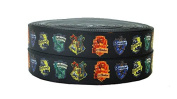 2m x 16mm THIN BLACK HARRY POTTER HOUSE GROSGRAIN RIBBON FOR BIRTHDAY CAKE'S, WEDDING CAKES, GIFT WRAP WRAPPING MOTHERS DAY