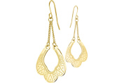 Zag Pierced Jewellery Earrings, Pendant With Yellow Gold