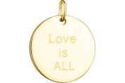 Zag 'Love is all, Gilding, Yellow Gold Locket Pendant Jewellery Chain Sold Separately