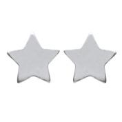 Earrings silver 925/000 Silver – Full – Star 5 mm