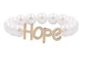 'Hope' Gold Bead Bracelet