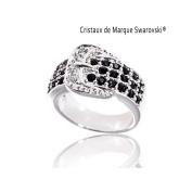 BAGUE à Dames – La Cougar Ring Crystal – Black