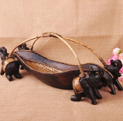 CLOTHES- Southeast Asia Wooden Crafts Retro Ornaments Fashion Creative Lucky Elephant Wine Rack
