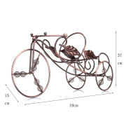 CLOTHES- Tricycle Modelling Bronze Red Wine Ornaments Retro Personality Decoration Bar Hotel Red Wine Showcase Retro Personality Fashion Durable Home Lockers Wine Racks