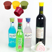 Bazaar Silicone Candy Colour Beer Saver Stopper Wine Bottle Stoppers Sealer