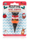 NPW-USA Funny Christmas Santa Novelty Wine Stopper'
