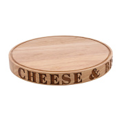 CGB Giftware Loft Cheese And Biscuits Carved Board (One Size)