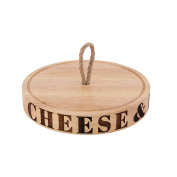 CGB Giftware Loft Cheese And Biscuits Carved Board With Rope (One Size)
