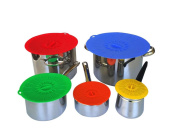 ZHJZ 5Pcs Silicone Environmental Protection Lids Microwave Dish Fresh Covers