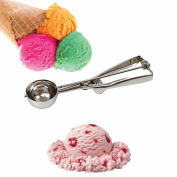HK Kitchen Comfort Grip & Easy Use ICE CREAM SCOOP -Kitchen Ball Scoop, Stainless Steel & SMILEY Face Magnet