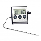 GuDoQi Digital Oven Alarm Thermometer Timer Baking Cooking Food Thermometer Boiled Sugar Fork For BBQ Grill With Probe