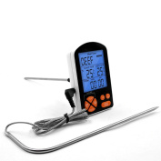 GuDoQi Electronic Display BBQ Thermometer Meat Food Thermometer Kitchen Temperature Measurement With 2 Probes And Timer Function