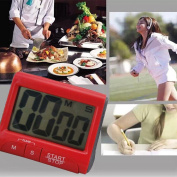 Yeshi Desk Alarm Clock Portable Digital Kitchen Cooking Timer Louder Large LCD Count-Down Up Clock Loud Alarm