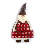 Gifts Treat Advent Calendar Countdown to Christmas Fabric Santa