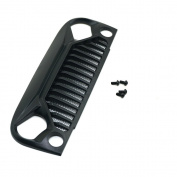 Air Inlet Grille Front Face with Metal Mesh for 1/10 RC Car SCX10 Jeep Wrangler