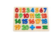 Christmas gifts Train Toy Education Wooden Numbers Peg Puzzle Board Toy For Boys Girls Toddlers Preschool Children Babies