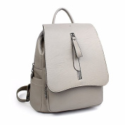 A new retro all-match Mini female leisure backpack,light grey