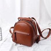 Simple Mini Backpack retro fringed Leather Shoulder Bag
