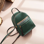 All-match fashion small backpack female personality embroidery leisure bag