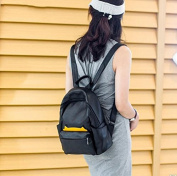 Backpack bag leather female all-match campus students simple leisure small backpack