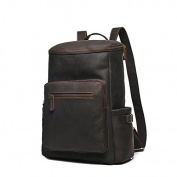 Multifunctional large male leather backpack 38cm notebook computer male Backpack
