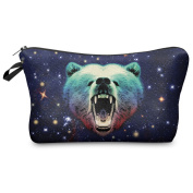 Mens Ladies Toiletry Bag Vanity case, make up, purse, pencil case, phone handbag, jewellery pouch NEW! Galaxy Grizzly