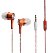For iPhone For Samsung Colourful Stylish Headset,Y56 For iPhone For Samsung 3.5mm In-Ear Stereo Earbuds Earphone Headset MIC