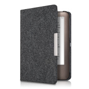 kwmobile Flip Case for Tolino Shine / Page - eBook Case Cover Bag Cover with Design Felt in dark grey