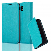 Cadorabo - Book Style Wallet with Stand Function for _ for Samsung Galaxy J5 (7) – Model 2017 _ with Card Slot and invisible Magnetic Closure - Etui Case Cover Protection in PETROL-TURQUOISE