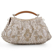 Women Evening Clutches Fully Sequined Mesh Beaded Antique Style Wedding Cocktail Party Clutch Purse