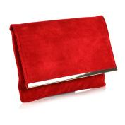 Womens Clutch Bag Envelope Ladies Evening Prom Shoulder Party Purse Handbag UK