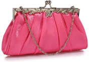 Clutch Bags For Wedding Party Bridal Womens Purse Ladies Evening Handbag With Chain Metal Detailing