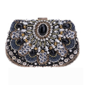 Flada Womens Clutches Bags Sequin and Crystal Rhinestones Evening Handbags Purses#4