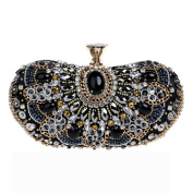 Flada Womens Clutches Bags Sequin and Crystal Rhinestones Evening Handbags Purses#3