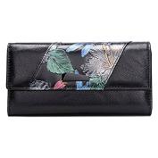 Women's Envelope Multi-card Flower Leather Purse Card Holder Wallet Long Clutch Ladies Hangbags
