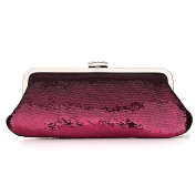 Women Evening Clutches Fully Sequined Mesh Antique Style Formal Cocktail Clutch Purse