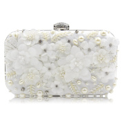 Flada Women Clutch Bags Rhinestones Floweres Evening Handbags Purses Exquisite Beaded for Wedding Party