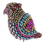 Bonjanvye Crystal Parrot Clutch Purses for Women Evening Bag