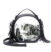 Small Shoulder Messenger Chain Package Fashion Printing Bags Art Autumn And Winter Handbags