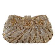 Flada Rhinestones Flower Clutches Bags for Girl's Wedding Party Evening Handbag Purse #1