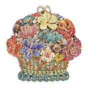 Bonjanvye Flower Basket Shape Clutch Purses And Handbags For Women