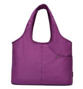 Yan Show Women's Canvas Athletic Shoulder Bag Large Capacity Light Handbag Shopping Bag /Purple