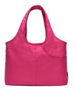 Yan Show Women's Canvas Athletic Shoulder Bag Large Capacity Light Handbag Shopping Bag /Rose Red
