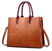 Yan Show Women's PU Retro Shoulder Bag Official Business Commute Handbag /Brown