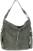 Tyoulip Sisters XL ladies Shoulder Bag I Vintage Leather (32x36x18 cm) Green Grey