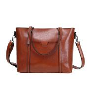 BIUBIUboom Women PU Leather Handbags Top Handle Satchel Shoulder Bag Tote Purse