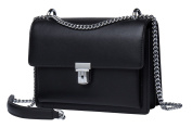 Malirona Women Real Leather Crossbody Handbag Purse Small Messenger Bag with Chain Strap