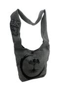 The Encircled Tree Print Zip Top Cotton Canvas Cross Body Bag